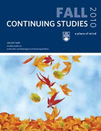 Continuing Studies Fall 2010 Calendar