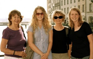 From left, VOICE project members Doris Callaghan, Robyn Wiebe, Claire Budgen and Melissa Feddersen in Geneva