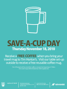 Save-a-cup day organized for November 18