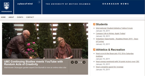 Okanagan campus news available anywhere, any time
