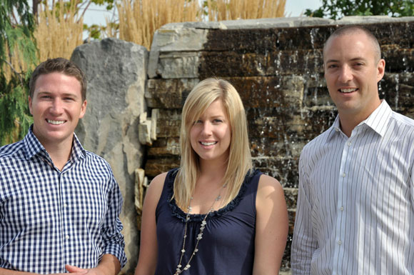 UBC student recruiters: Jamie Young, Amanda Victoor and Steve Taylor