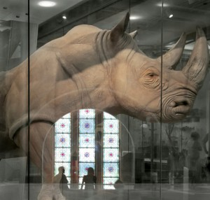 At the ROM, 2011, inkjet on paper, 40 X 36 inches, by Fern Helfand
