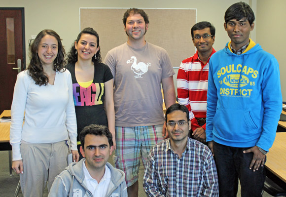 Engineering students were the first to participate in the new credentialing program in a session last May offered by the Centre for Teaching and Learning. Back row from left: Jessica Buritica, Elham Shamekhi, David Kadish, Daylath Mendis, Mohammed Shahnewaz. Front row from left: Mehedi Jahanderdoust, Muhammed Malik.