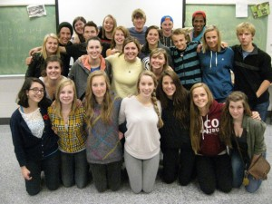 Nursing students from UBC's Okanagan campus shared their knowledge about global health issues through a series of classroom visits with Grade 11 and 12 students at Kalamalka Secondary School in Vernon.