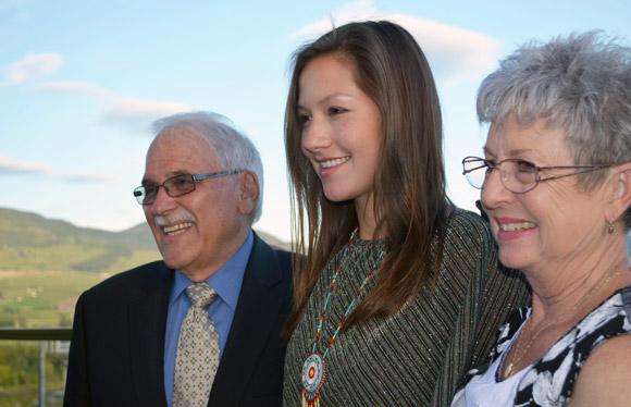 Treanna Delorme and grandparents