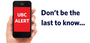 UBC ALERT text messaging launches