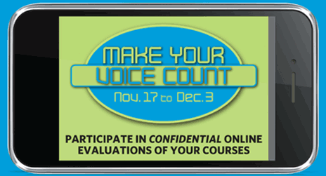 Student evaluations of teaching begin on Nov. 17