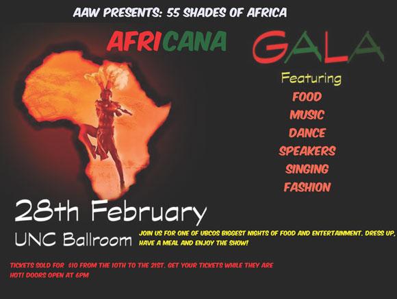 African Awareness Week 2014 -- Africana Gala poster