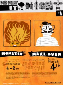 Makeover monsters at the inaugural Draw By Night event