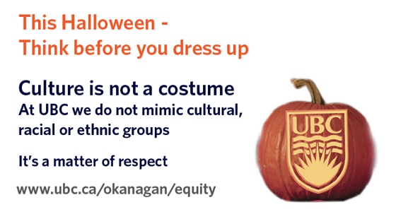 This Halloween – think before you dress up