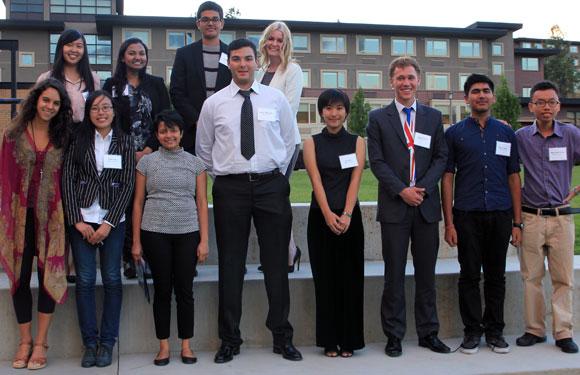 Winners of this year's Joseph Yu Global Leadership Award, International Scholars Awards and International Community Achievement Awards.