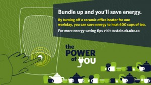 Bundle up to save energy