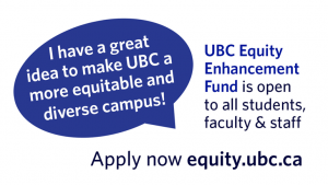 Be a UBC equity enhancement star