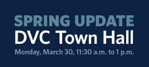 DVC Town Hall on Mar. 30