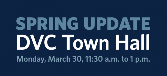 DVC Town Hall Spring 2015 graphic