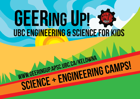 Mentors needed for Geering Up science and engineering summer camps