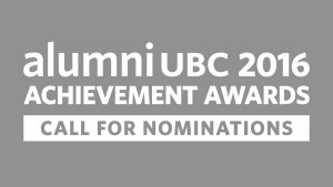 Nominations open for alumni UBC Achievement Awards