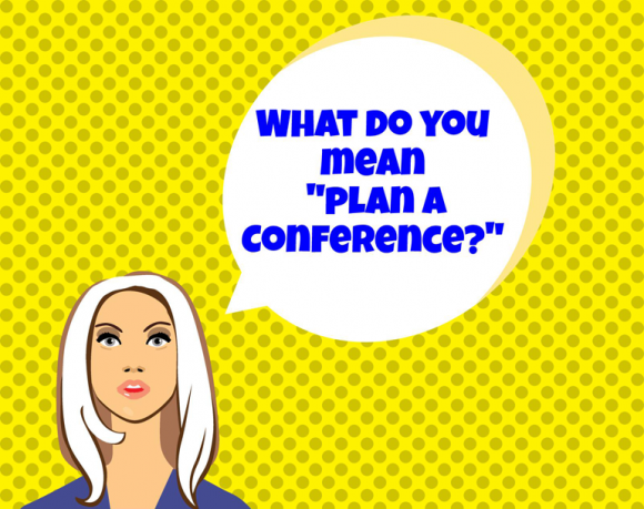 Conference planning info session graphic