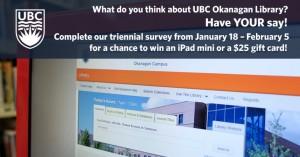 UBC Okanagan Library seeks input from faculty members