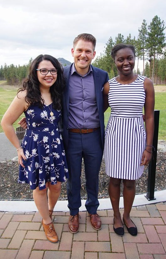 Philipp Reichert (middle) with 2015 Jumpstart Coordinators Alejandra Garcia (left) and Mirabelle Arodi (right).