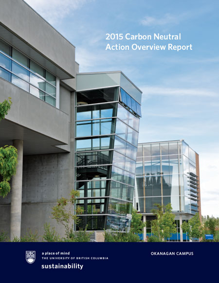 2015 Carbon Neutral Action Report cover
