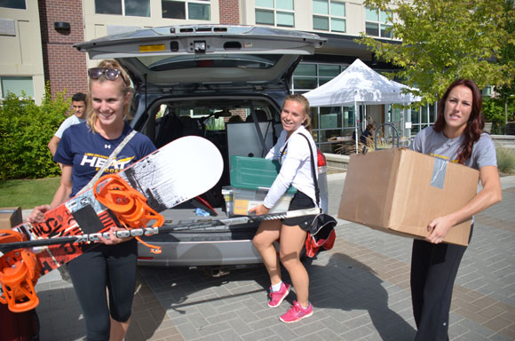 Student move-in day is a well-choreographed event at UBC Okanagan that happens the first Sunday in September and marks the beginning of the new academic year.