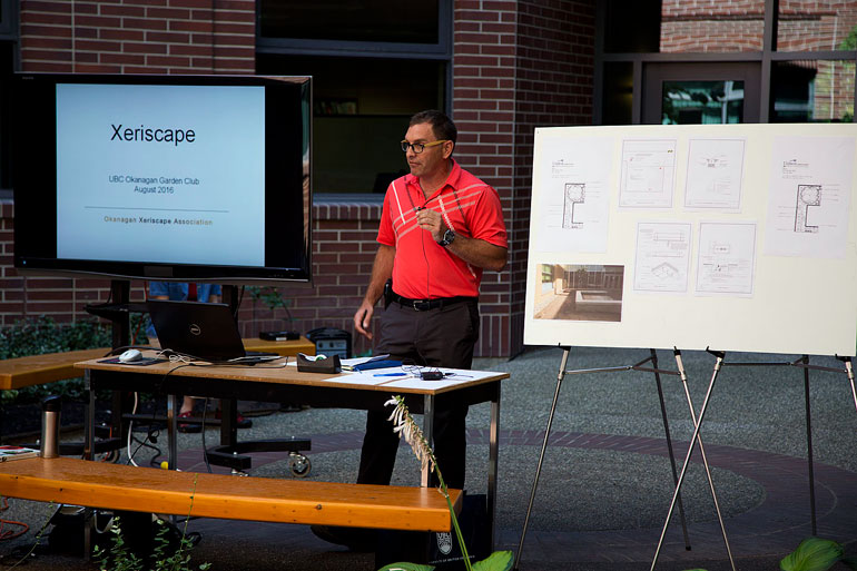 Marty Gibb, manager of engineering and utility services, makes opening remarks at the inaugural Learning Local Landscapes workshop. Photo by Jason McLeod.