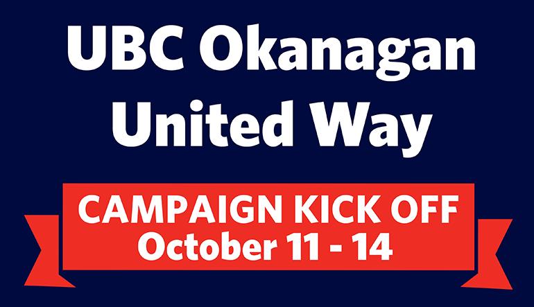 UBC Okanagan United Way Campaign Kick Off 2016