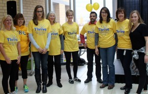 UBC Okanagan's Human Resource team at last year's Thrive wind-up event