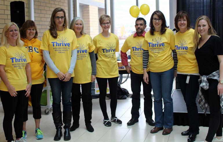 UBC Okanagan's Human Resource team at last year's Thrive wind-up event