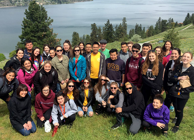 Aboriginal students from all over Canada came a day early to explore campus and Kelowna.