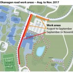 UBC Okanagan road work areas -- Aug to Nov 2017