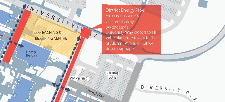 Construction disruption map