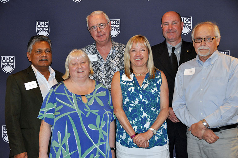 Faculty and staff recognized at this year's Long Service Awards included (from left): Dixon Sookraj, Rose Cresswell, Robert Lalonde, Blythe Nilson , Mike Gesi and Robert Campbell.
