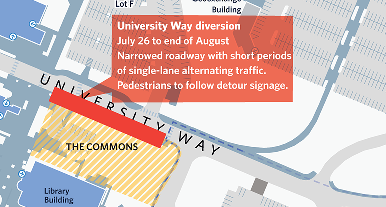 July 26: University Way diversion in effect