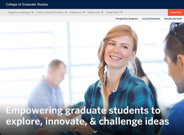 Screenshot of the new gradstudies.ok.ubc.ca.