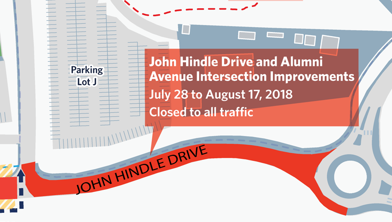 July 28: John Hindle Drive closure in effect