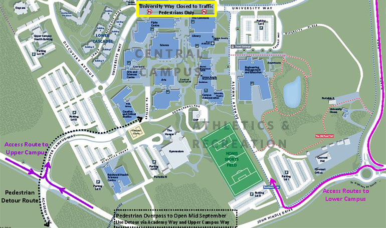 Ubc Okanagan Map Access to Upper Campus and other new transportation options this fall
