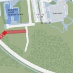 The new John Hindle Drive pedestrian overpass