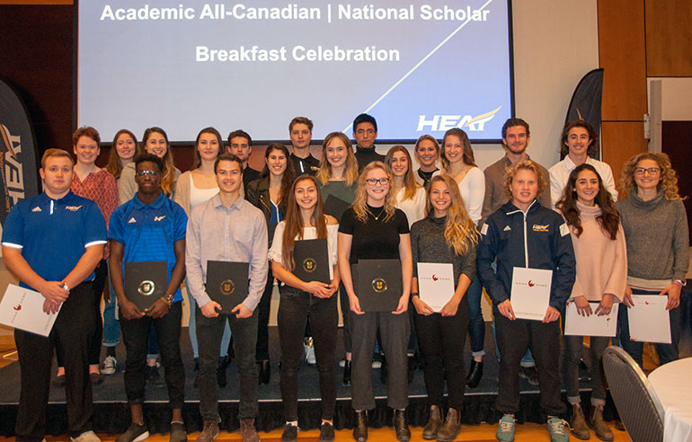 More than 43 student-athletes were recognized last week for maintaining a high academic average, while also competing on their Heat varsity teams.