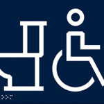 These new signs are being used for washrooms on campus that are gender-neutral and accessible.