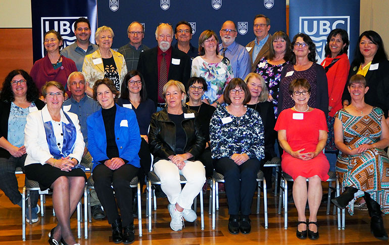 A number of UBCO faculty and staff were honoured a special length of service reception recently.