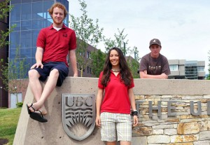 UBC alumni Matt Gillespie and Sydney White, along with UBC student Casey Reynolds, will be running the SOKS Science Summer Camp at UBC's Okanagan campus this summer.