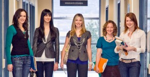 Members of the Forensic Psychology Scholar Group at UBC Okanagan include Tara Carpenter, Erin Hutton, Julia Shaw, Andrea Bennett and Leanne ten Brinke.