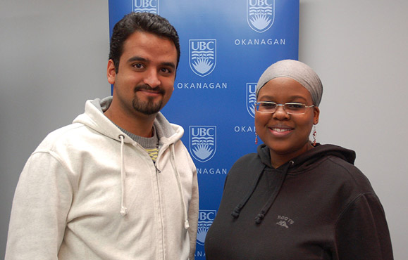 Students Suud Nahdi and Uba Mohammed are organizing Africa Awareness Week at UBC Okanagan Mar. 1 to 5.