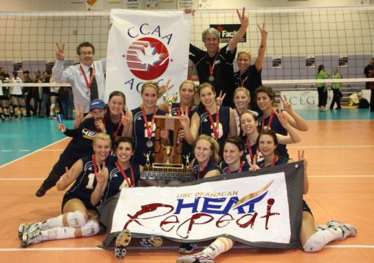 UBC Okanagan Heat Women's Volleyball Golden Again