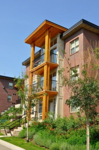 Accommodations this summer at UBC's Okanagan campus include the Cascades four-bedroom apartments (shown), townhouse-style City Homes, Monashee Studio Suites and one-bedroom apartments.