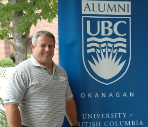 One of UBC's newest alumni, Stuart Hurd of Edmonton, recently converted his two degrees from the former Okanagan University College to UBC degrees.