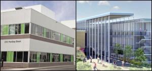 Rendering of Health Sciences Centre on UBC's Okanagan campus.