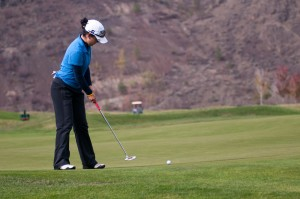 UBC golfer Jen Woods at the Dunes at Kamloops